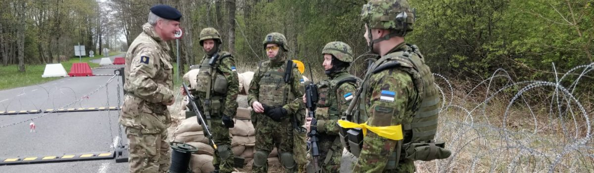 Senior UK Army Reservist visits Estonian Exercise