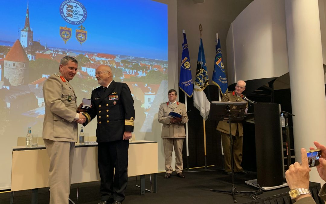 CIOR Medal of Merit to Rear Admiral Berggrav